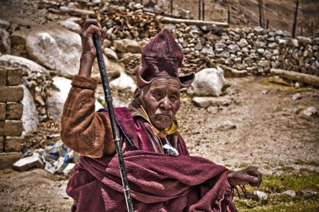 Один из самых старых и старших лам монастыря Каспанг